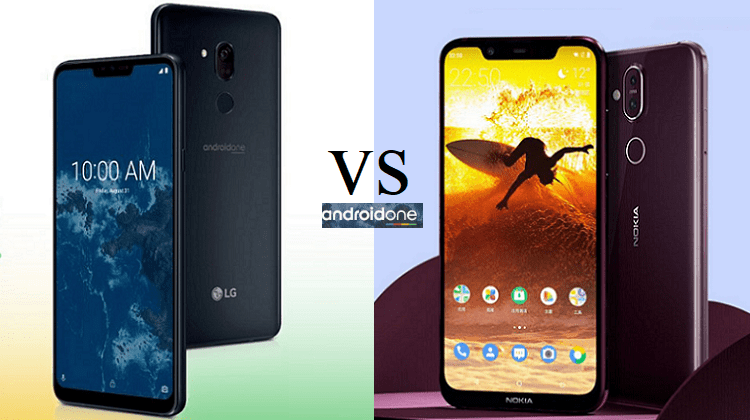 Σύγκριση Android One: LG G7 One vs Nokia 8.1